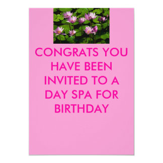 Water lilies, CONGRATS YOU HAVE BEEN INVITED TO... Card