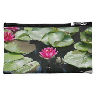 water lilies cosmetic bag