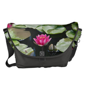 water lilies courier bag
