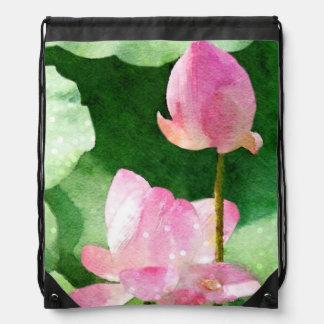 Water Lilies Drawstring Bag