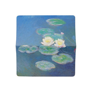Water Lilies, Evening Effect by Monet Checkbook Cover