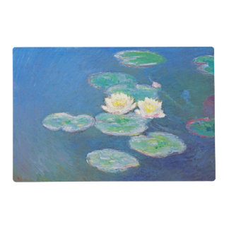 Water Lilies, Evening Effect by Monet Placemat