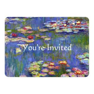 Water Lilies Fine Art Wedding Card