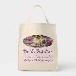 Water Lilies Floating World's Best Mom Bag