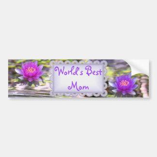 Water Lilies Floating World's Best Mom Bumper Sticker