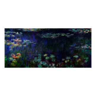 Water Lilies, Green Reflection,1920-1926 Print