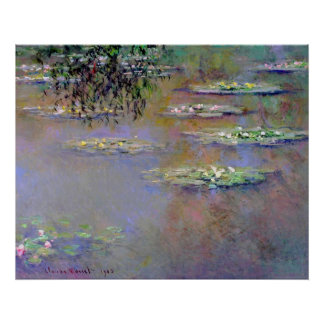Water Lilies Impressionism Poster