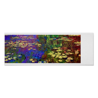 Water Lilies - Impressionist Painting by Monet Poster