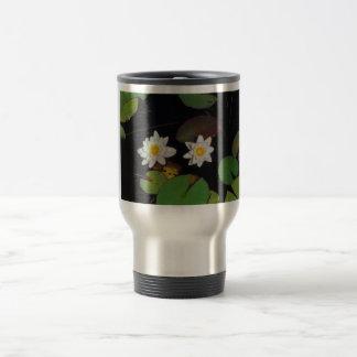 Water Lilies in Summer Travel Mug