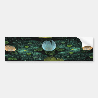 Water Lilies in the Rain Bumper Sticker