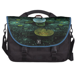 Water Lilies in the Rain Laptop Bags