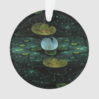 Water Lilies in the Rain Ornament