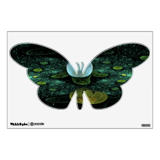 Water Lilies in the Rain Wall Decal