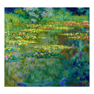 Water Lilies - Le Bassin des Nympheas by Monet Poster