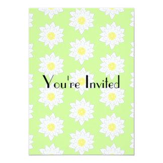 Water Lilies, Light Green Background. Card