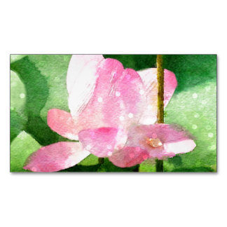 Water Lilies Magnetic Business Card
