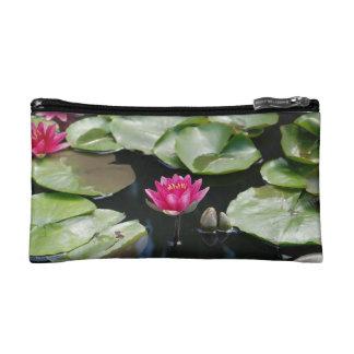 water lilies makeup bag