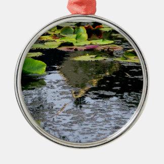 Water Lilies Metal Ornament