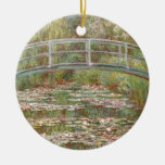 Water Lilies ~ Monet Double-Sided Ceramic Round Christmas Ornament