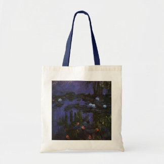 Water Lilies, Monet, Vintage Impressionism Flowers Tote Bags