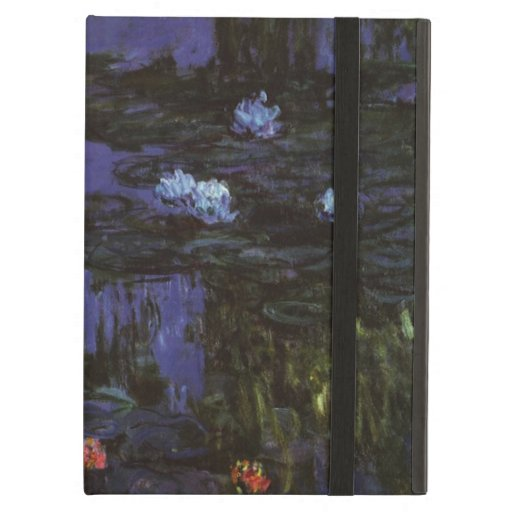 Water Lilies, Monet, Vintage Impressionism Flowers iPad Air Case