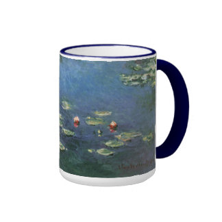 Water Lilies Monet Vintage Impressionism Flowers Coffee Mugs