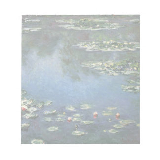Water Lilies, Monet, Vintage Impressionism Flowers Scratch Pad