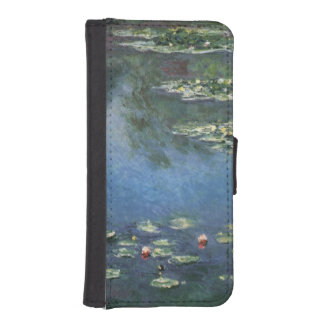 Water Lilies, Monet, Vintage Impressionism Flowers Phone Wallets