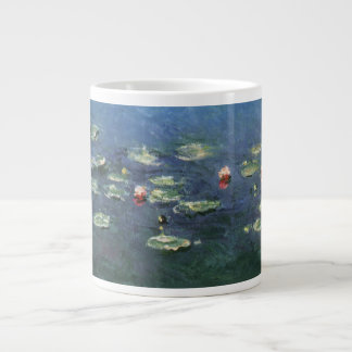 Water Lilies, Monet, Vintage Impressionism Flowers Extra Large Mug