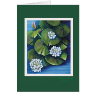 water lilies note card