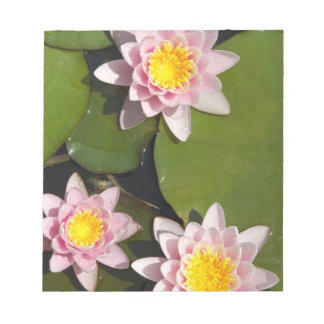 Water lilies note pad