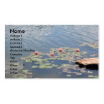 Water Lilies on Water Business Card Template