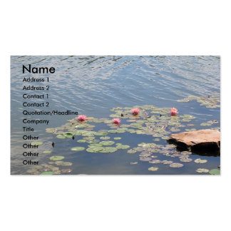 Water Lilies on Water Double-Sided Standard Business Cards (Pack Of 100)