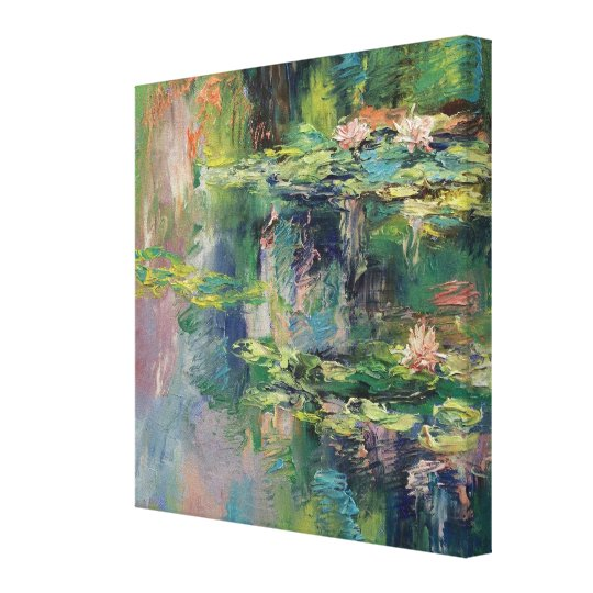 Water Lilies Painting Canvas Print