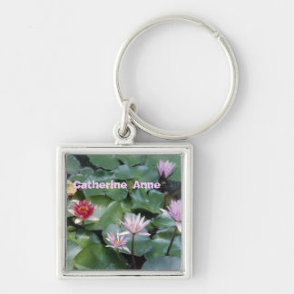Water Lilies Personalized keychain