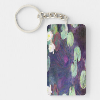 Water Lilies, Pink, 1897-99 Claude Monet cool, old Keychain