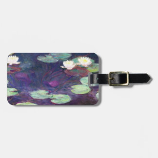 Water Lilies Pink 1897-99 Claude Monet cool old Luggage Tag