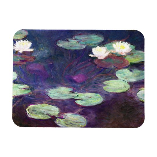 Water Lilies, Pink, 1897-99 Claude Monet cool, old Magnet