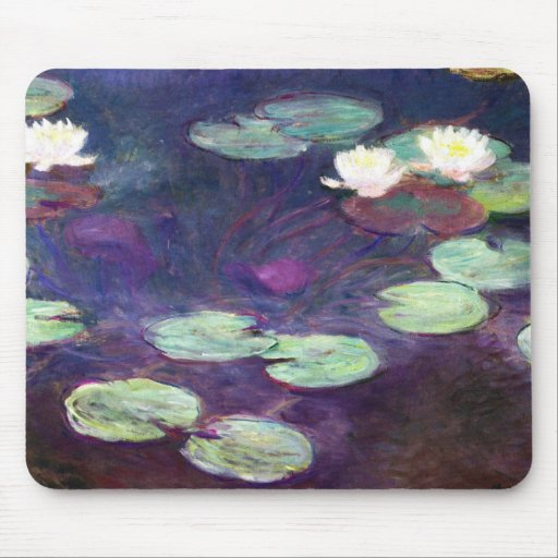 Water Lilies, Pink, 1897-99 Claude Monet cool, old Mouse Pad
