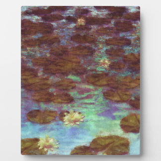 Water Lilies Photo Plaques