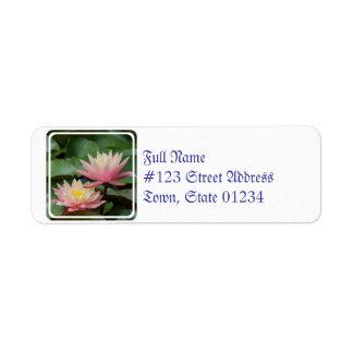 Water Lilies Return Address Label