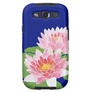 Water Lilies Samsung Galaxy Case S3 Vibe Case