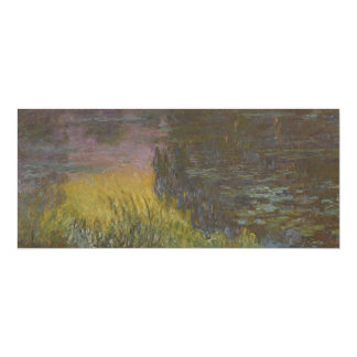 Water Lilies, Setting Sun by Claude Monet Card