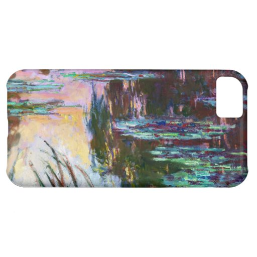 Water Lilies, Setting Sun Claude Monet iPhone 5C Case