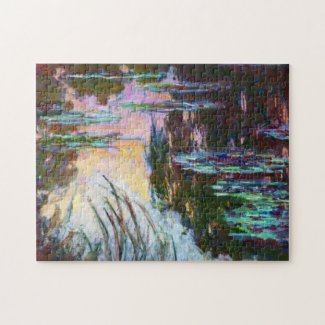 Water Lilies, Setting Sun Claude Monet Jigsaw Puzzle