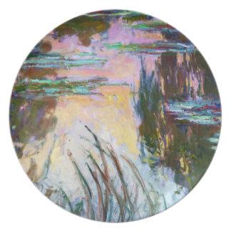 Water Lilies, Setting Sun Claude Monet Dinner Plates