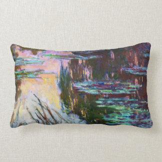 Water Lilies, Setting Sun Claude Monet Throw Pillow