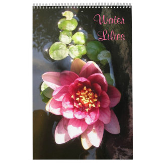 Water Lilies, Single Page Calendar
