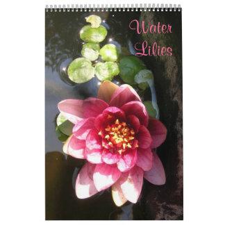 Water Lilies, Single Page Calendar