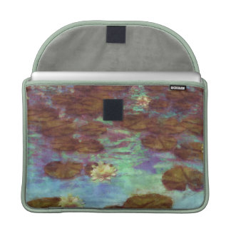 Water Lilies Sleeve For MacBooks